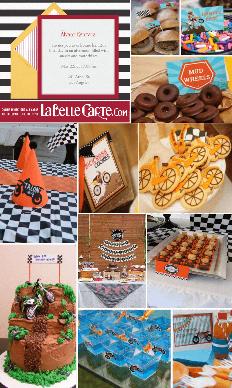 Motorcycles Birthday Party  Online Invitations And Ideas For A Fun
