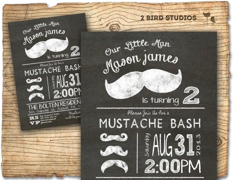 Mustache Bash Mustache Birthday Party Invitation Mustache