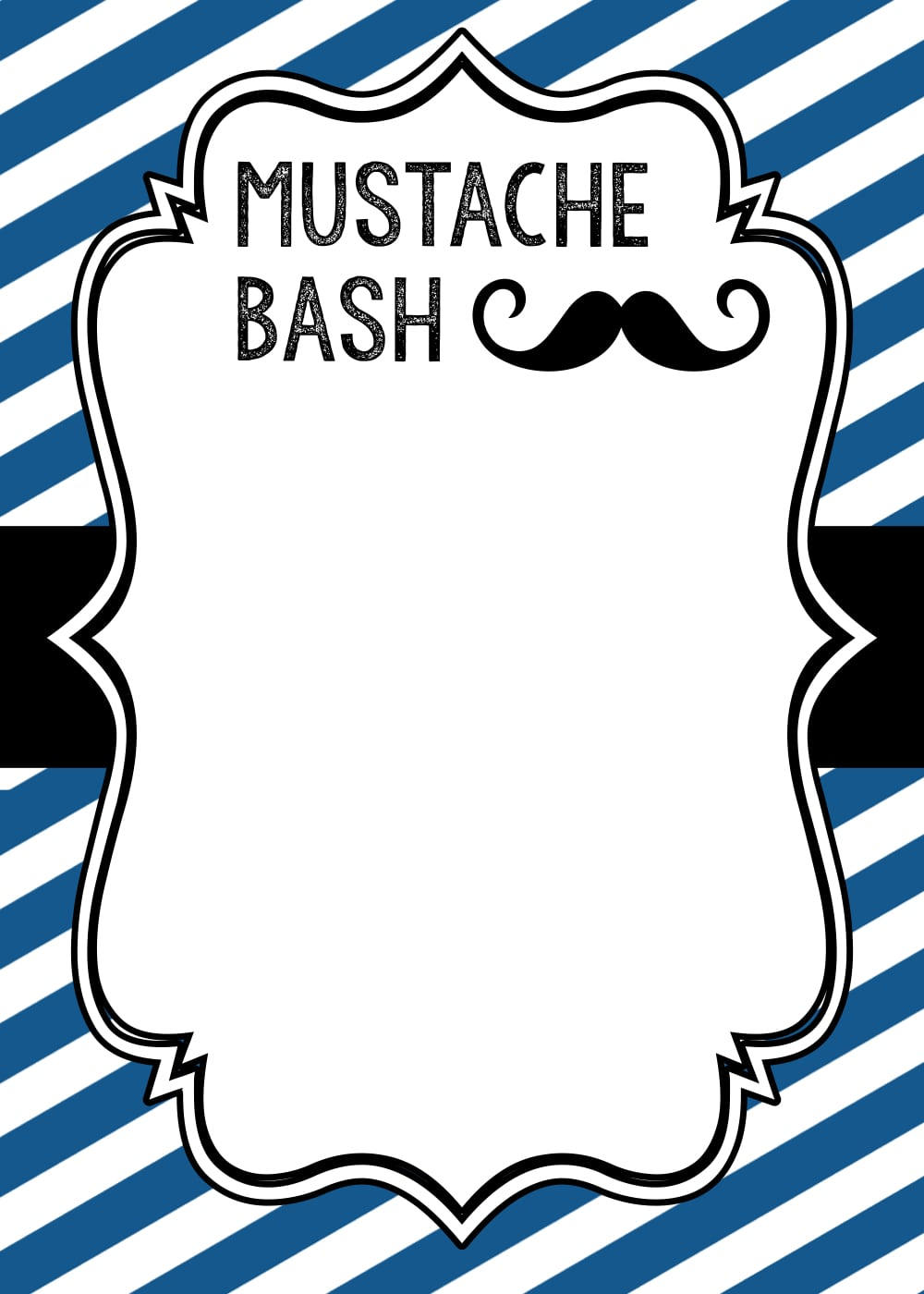 Mustache Party  Baby Shower Or Birthday Invite