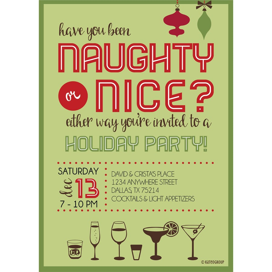 Naughty Or Nice Holiday Party Invitation