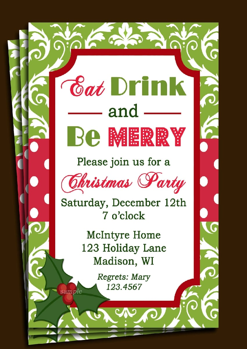 Office Christmas Party Invitation Wording Ideas » Invitation Card