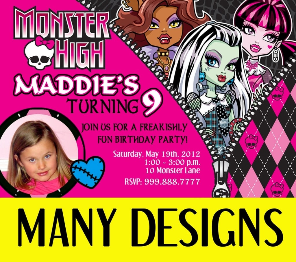 Party City Monster High Invitations Image Collections