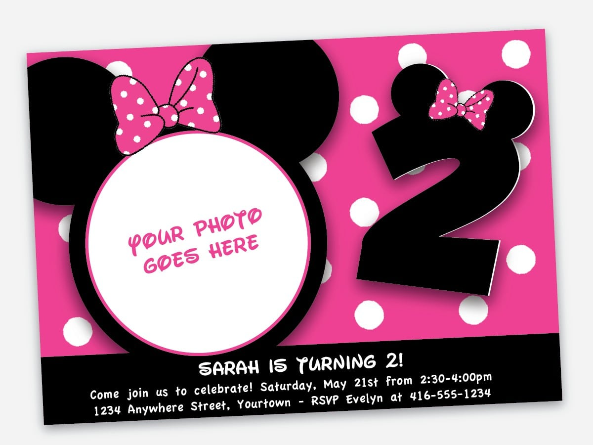 Party City Personalized Invitations - Mickey Mouse Invitations Templates