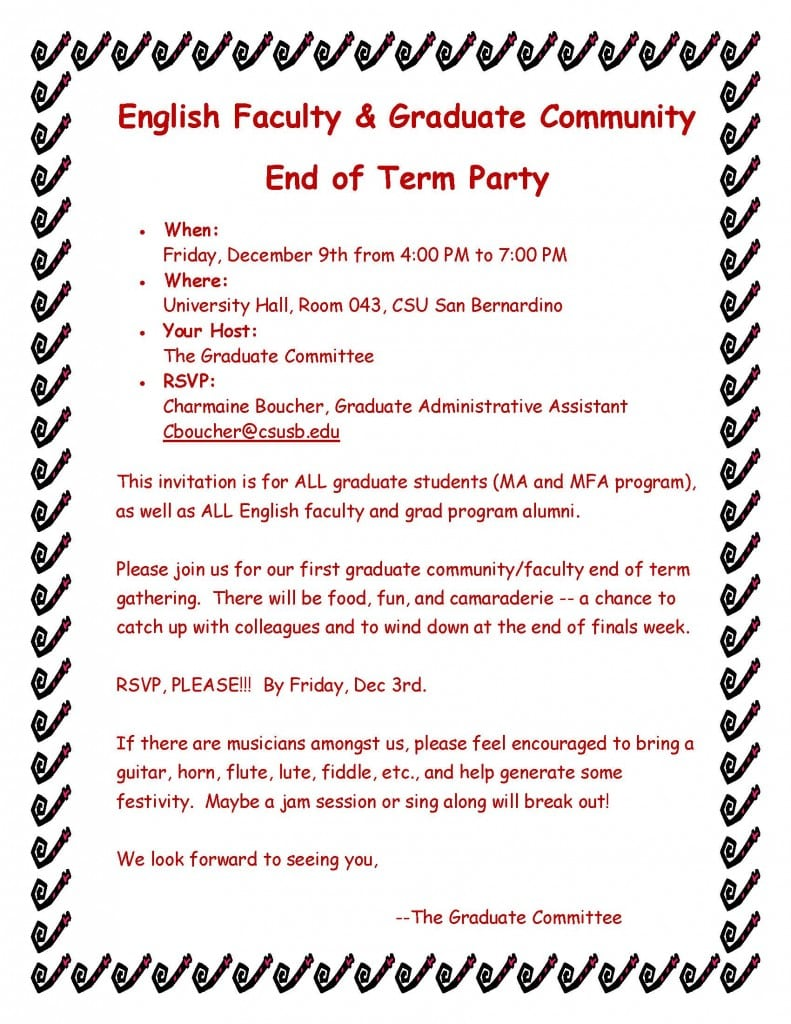 Party Email Invitations
