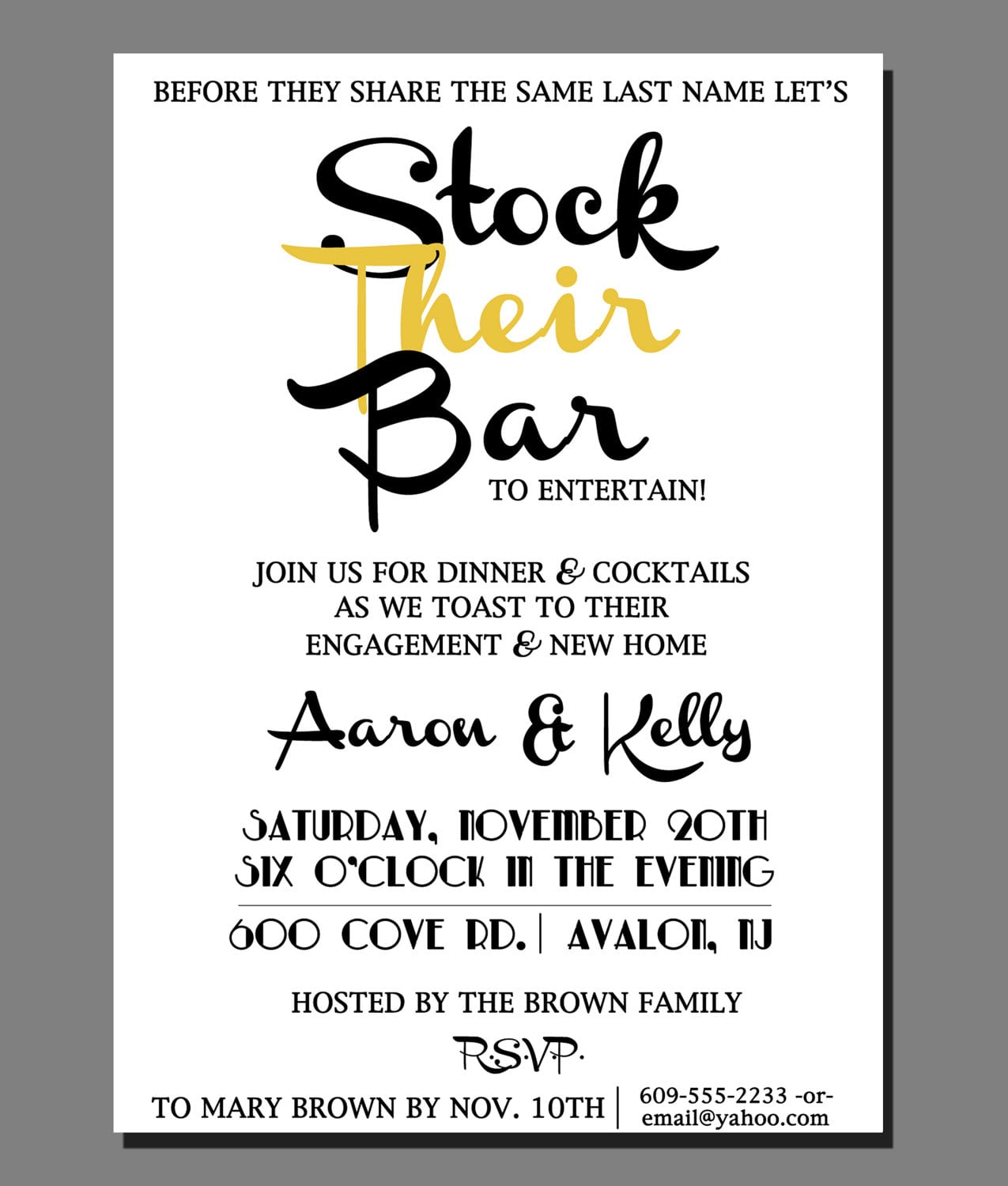 Party Invitation Cards Stock The Bar Party Invitations