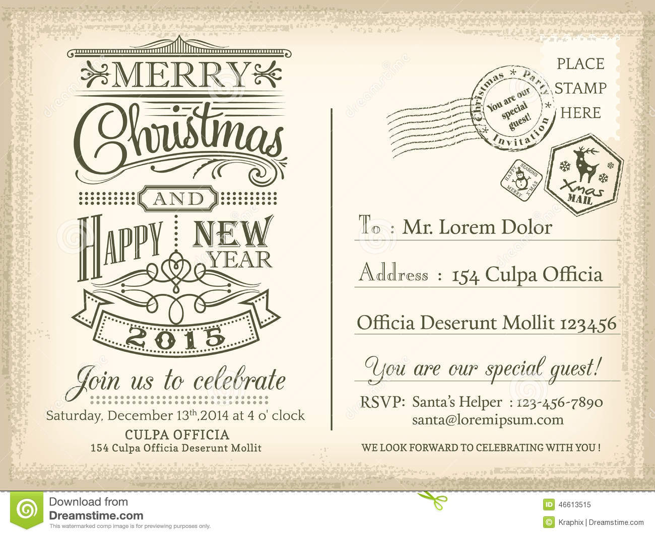 Party Invitation Postcards