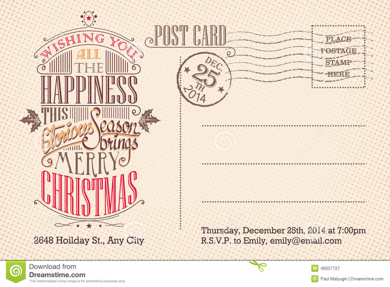 Party Invitation Postcards Choice Image