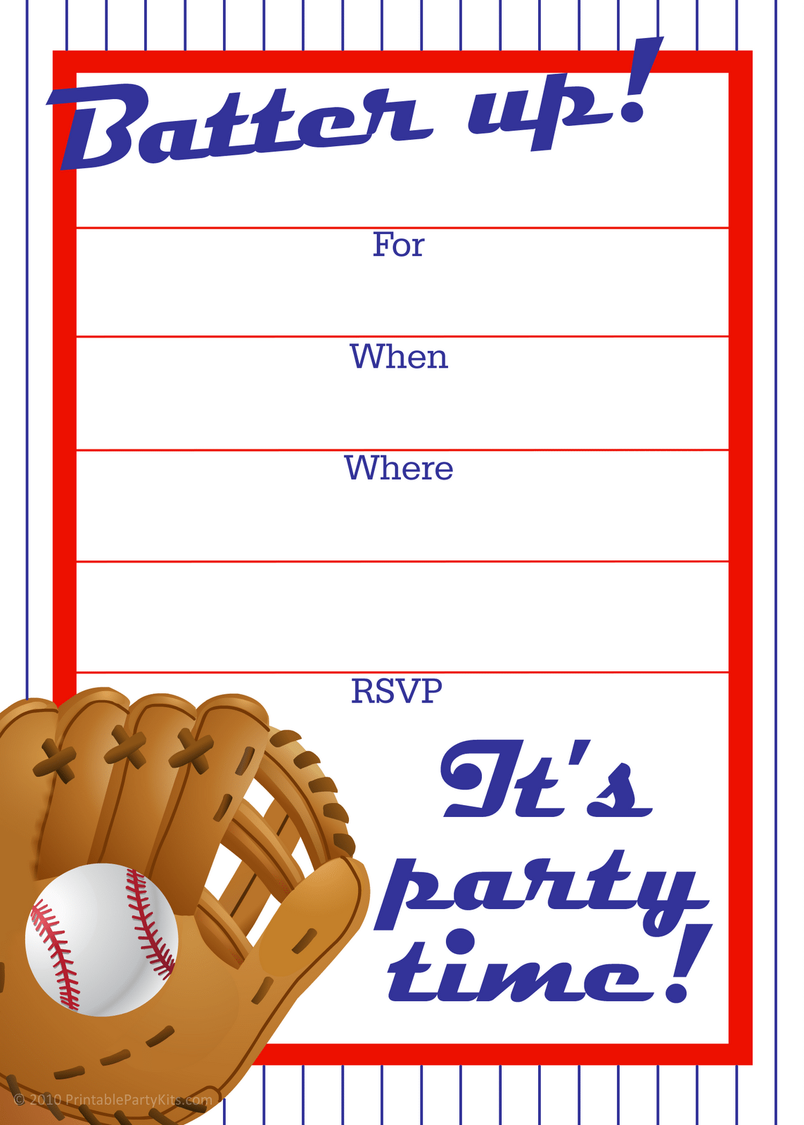 Party Invitations  10 Personalized Printable Birthday Party