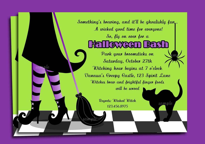 Party Invitations  Interesting Halloween Party Invitation Wording