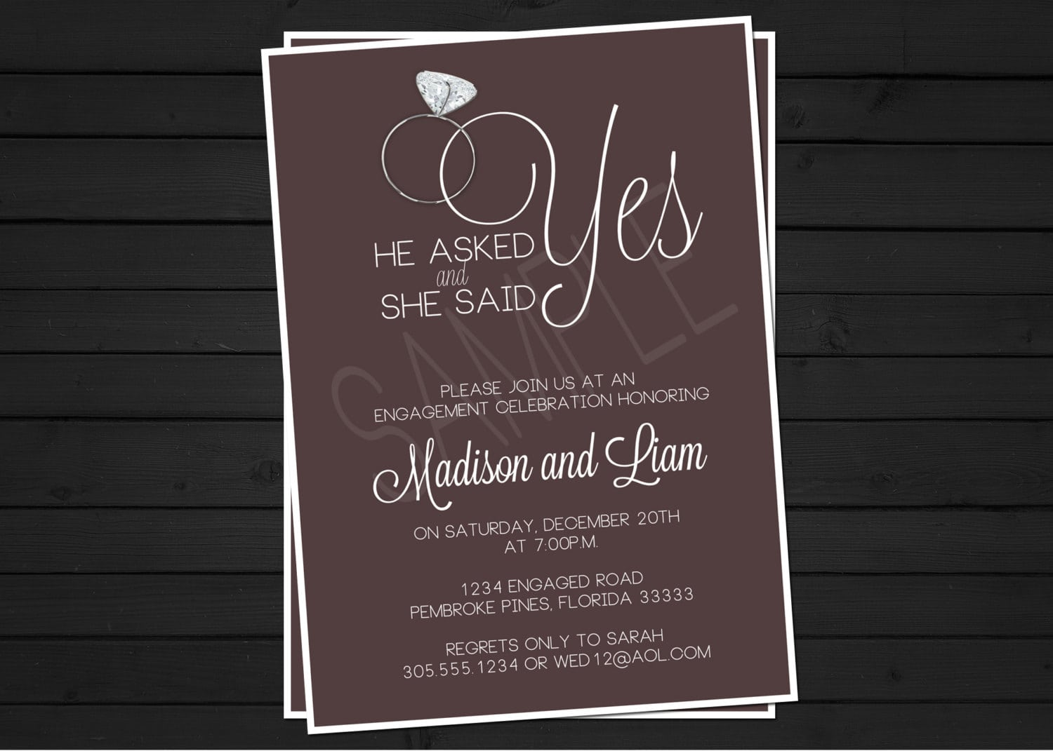 Engagement Party Invitations Ideas