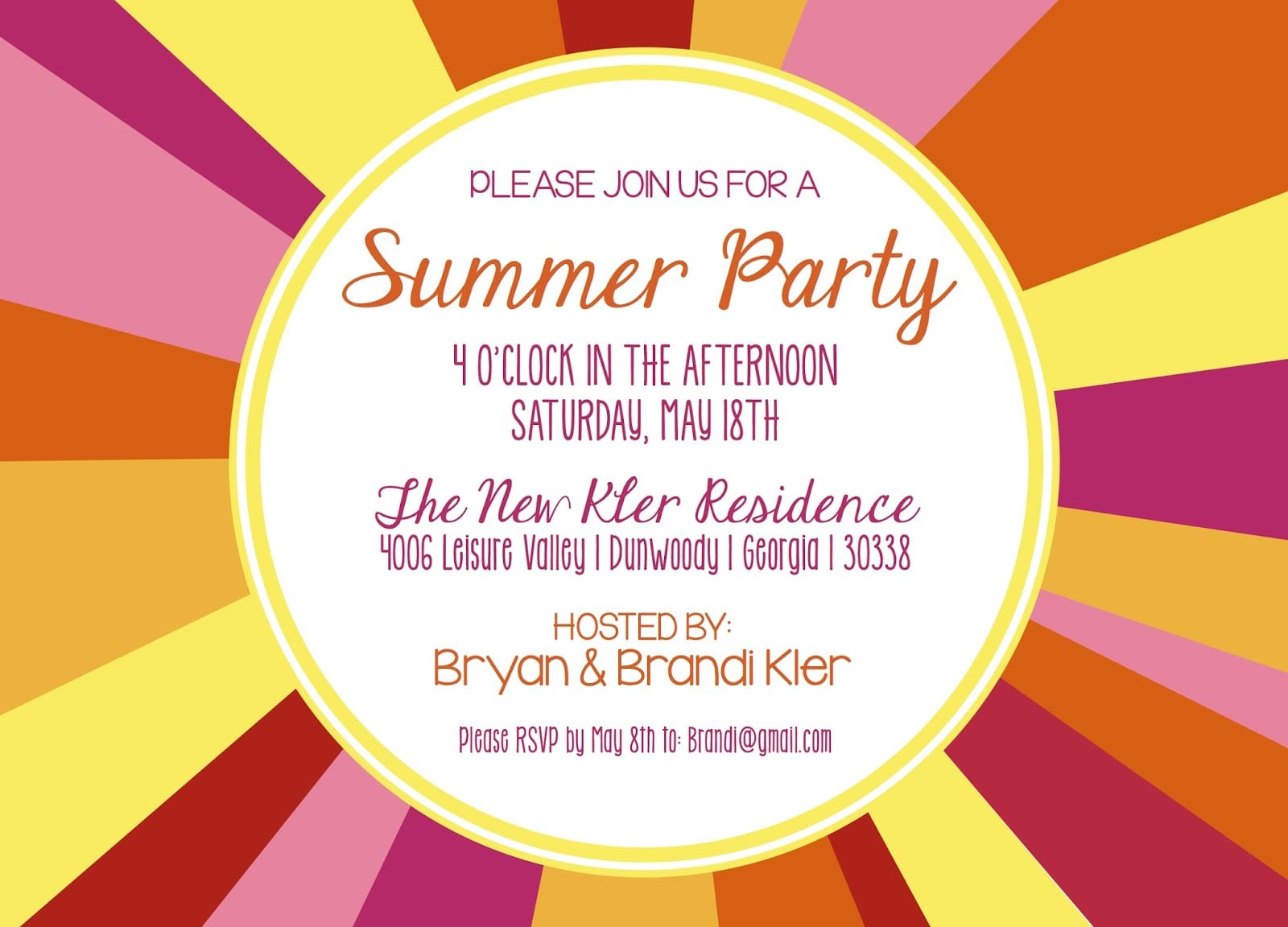 Party Invitations  Simple Summer Party Invitations Ideas Summer