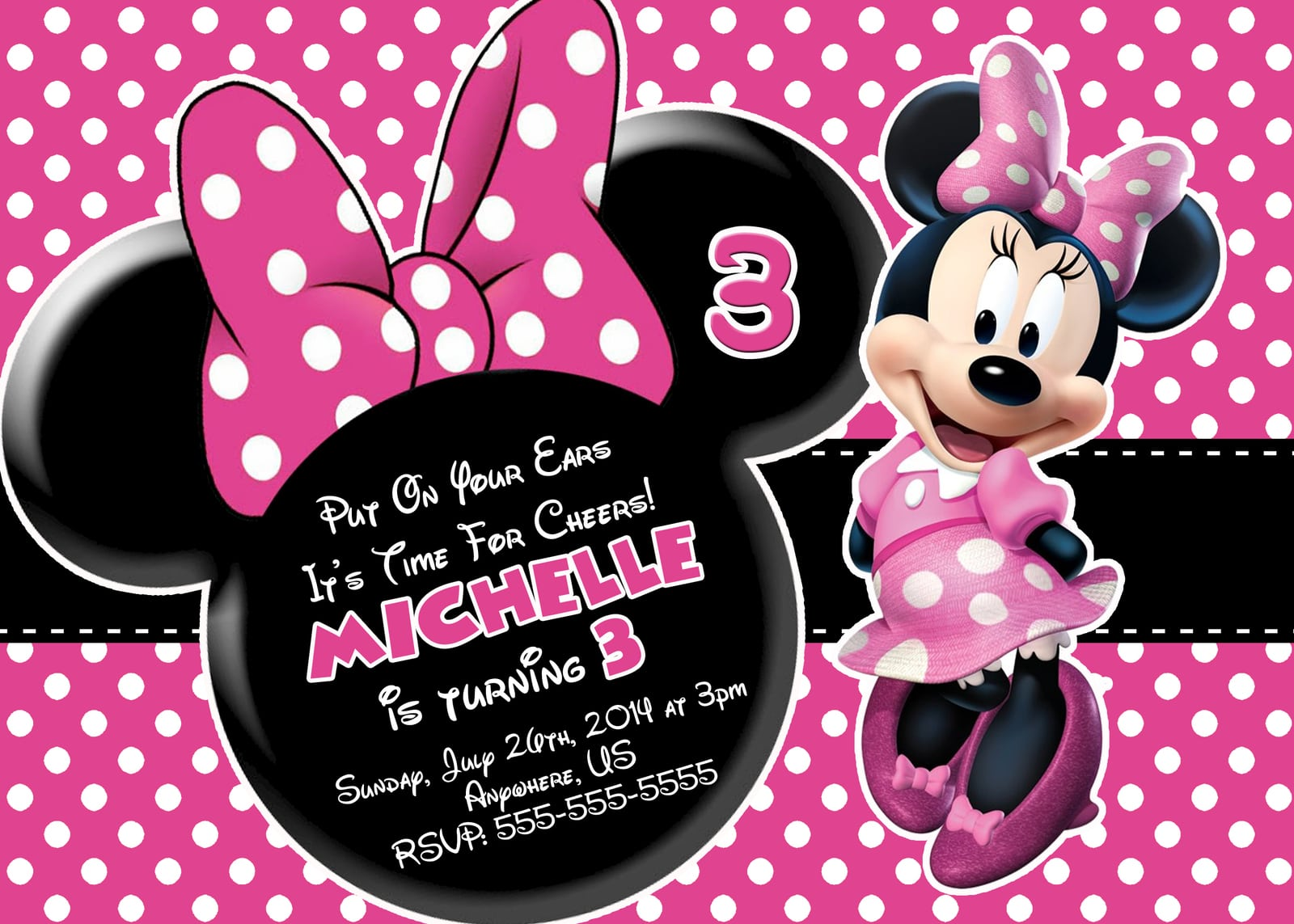 Party Invitations  Stunning Minnie Mouse Party Invitations Ideas