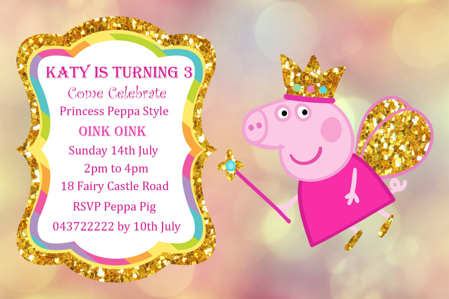 Peppa Pig Party Invitation - Mickey Mouse Invitations Templates
