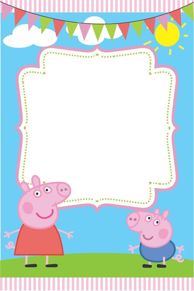 Peppa Pig Invite Card