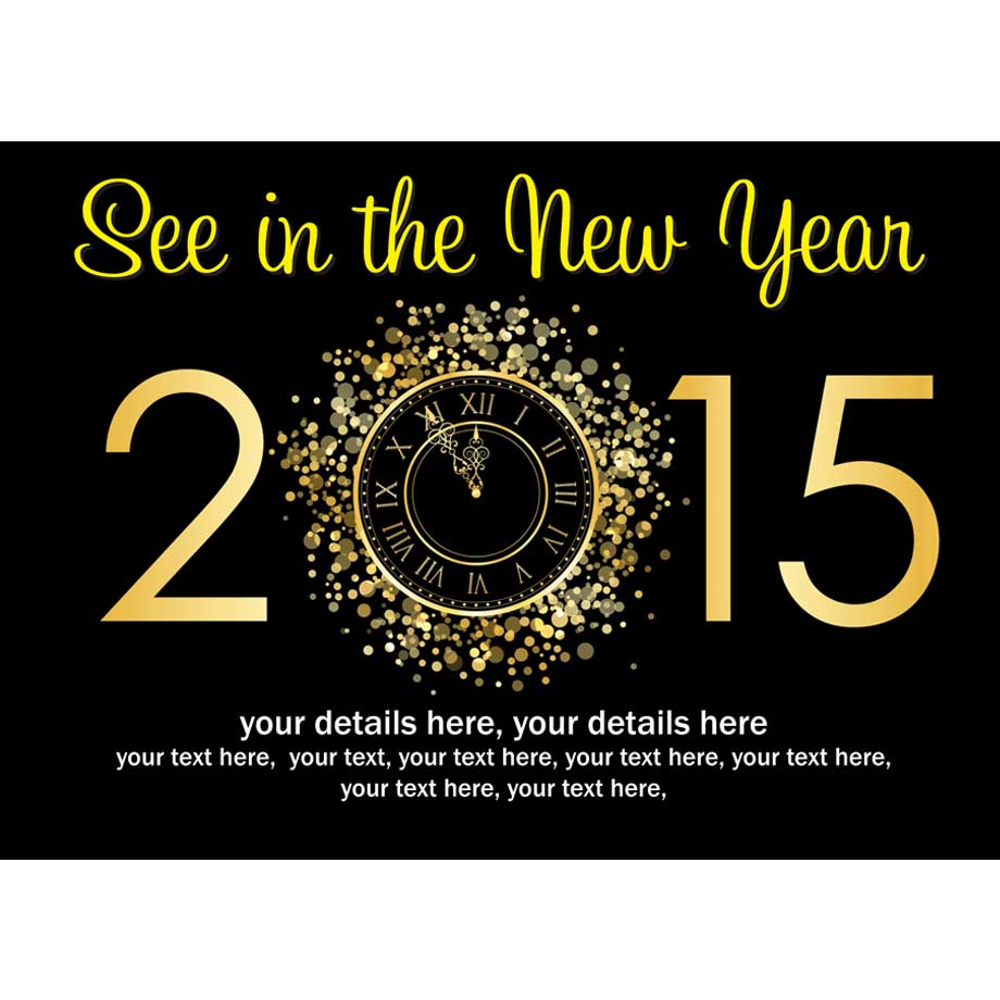 Personalised 2015 New Years Eve Party Invitations