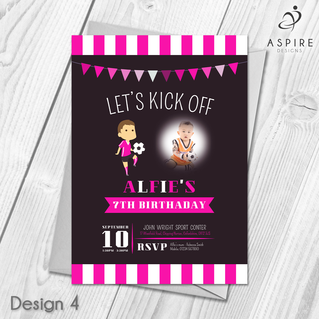 Personalised Football Party Invitations