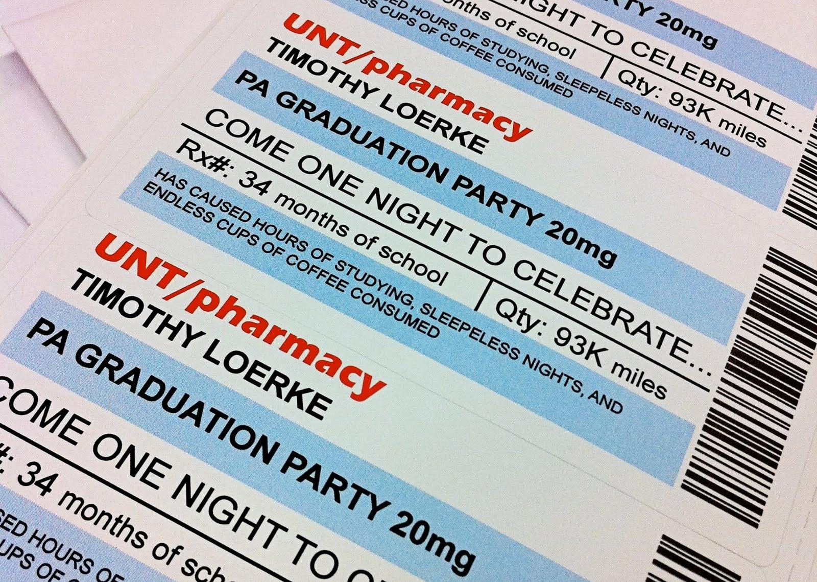 Pharmacy Graduation Invitations Tags   Pharmacy Graduation Party