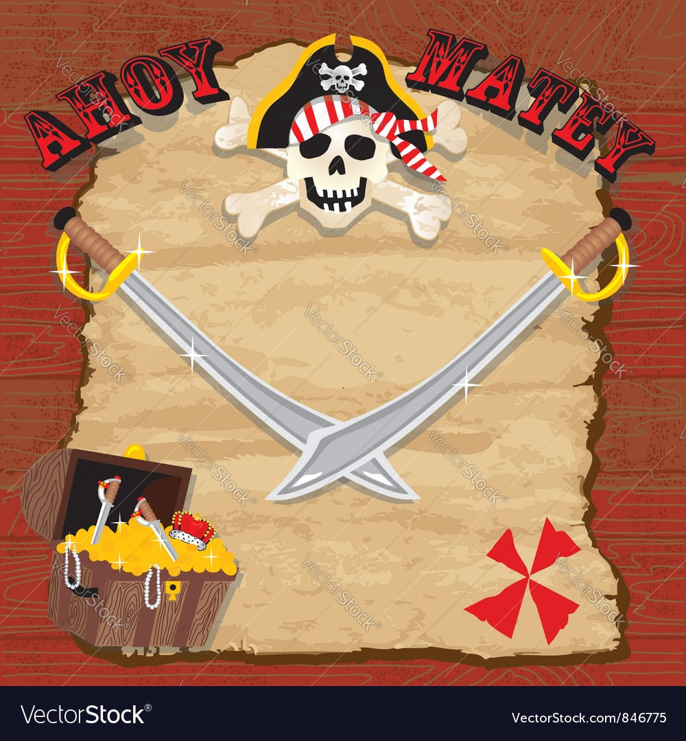 Pirate Party Invitation Royalty Free Vector Image