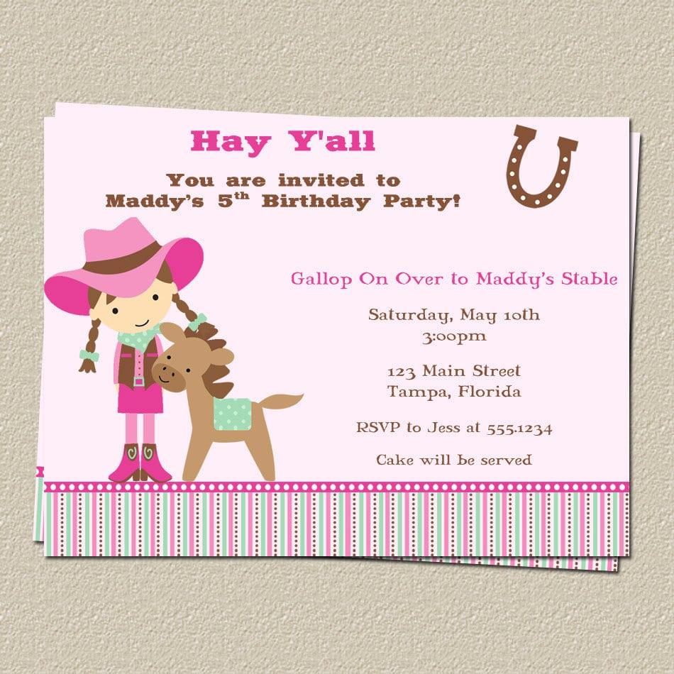 Pony Party Invitations – Gangcraft Net