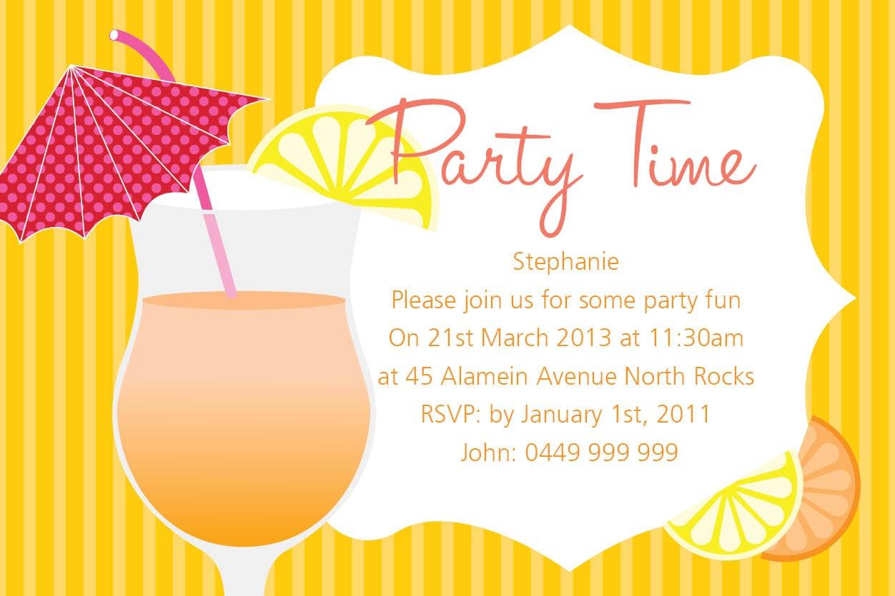 Postcard Party Invitation Template