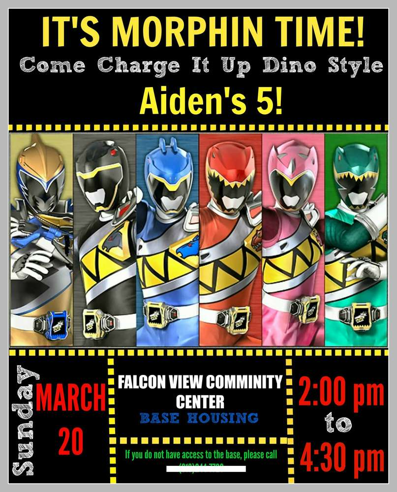 Power Rangers Dino Charge Birthday Party Ideas