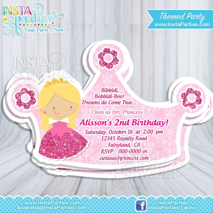 Princess Aurora Party Invitations   Princesses Sleeping Beauty Cut