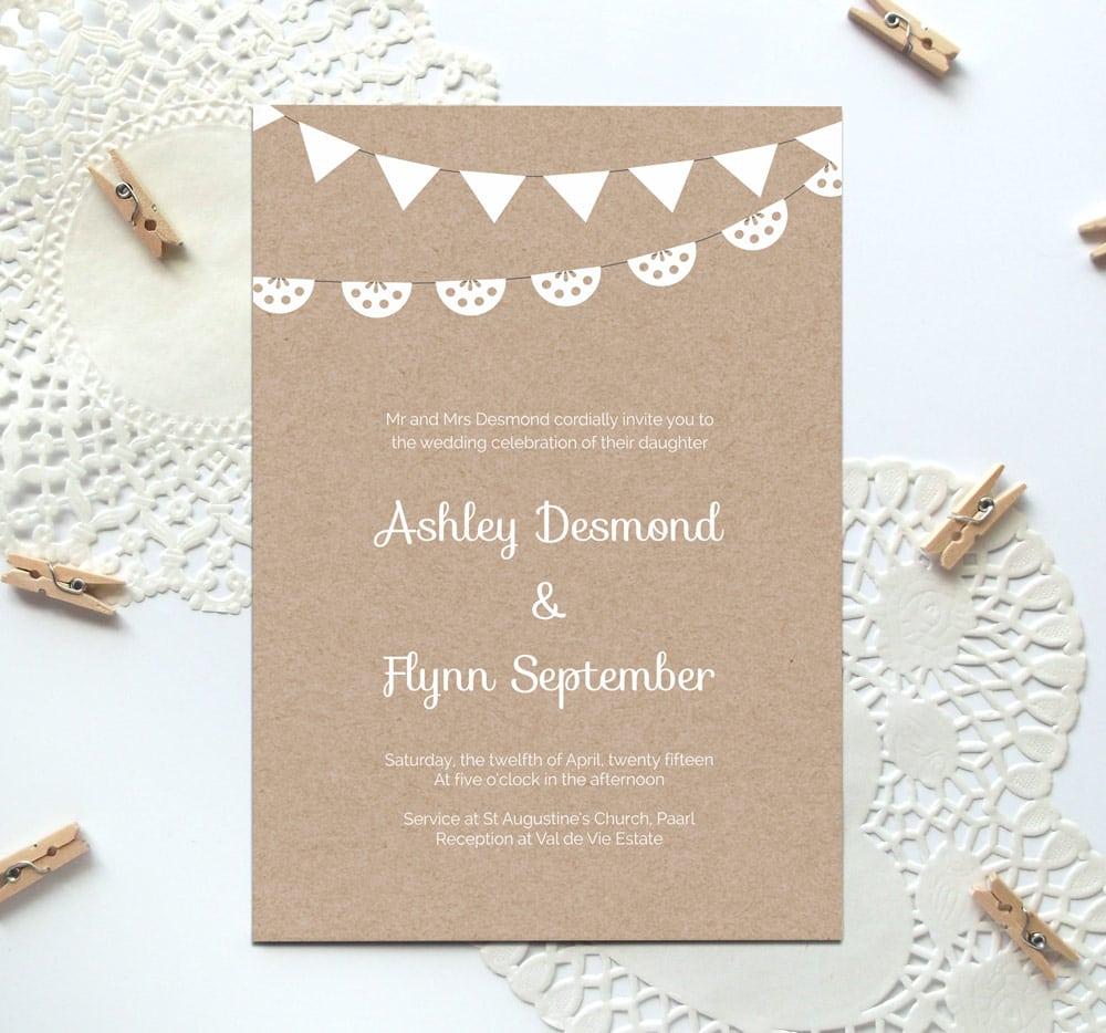 Printable Engagement Invitations