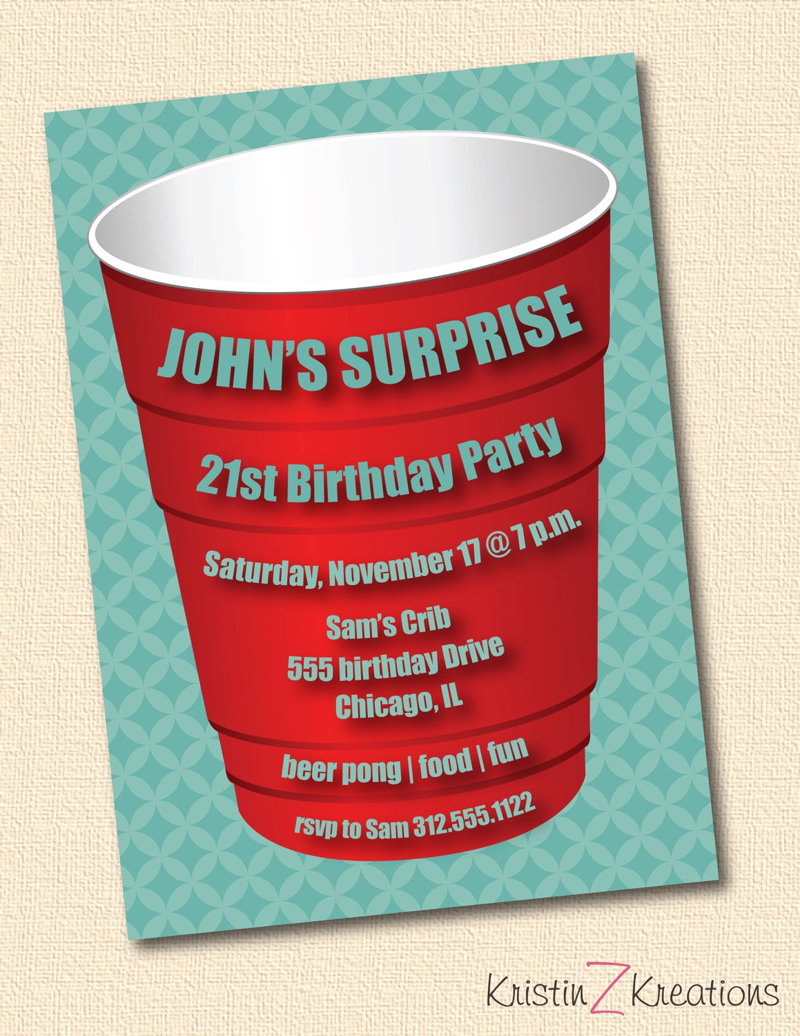 Red Solo Cup Party Invitations