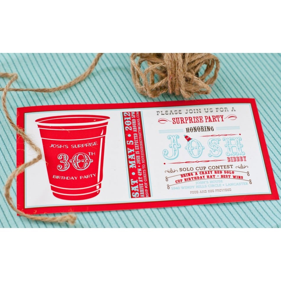 Red Solo Cup Party Printable Invitation Sooo Want To Have One Of