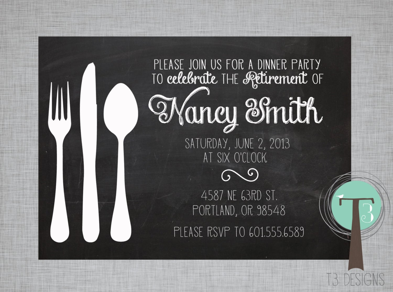 Retirement Party Invitation Dinner Party Invitation