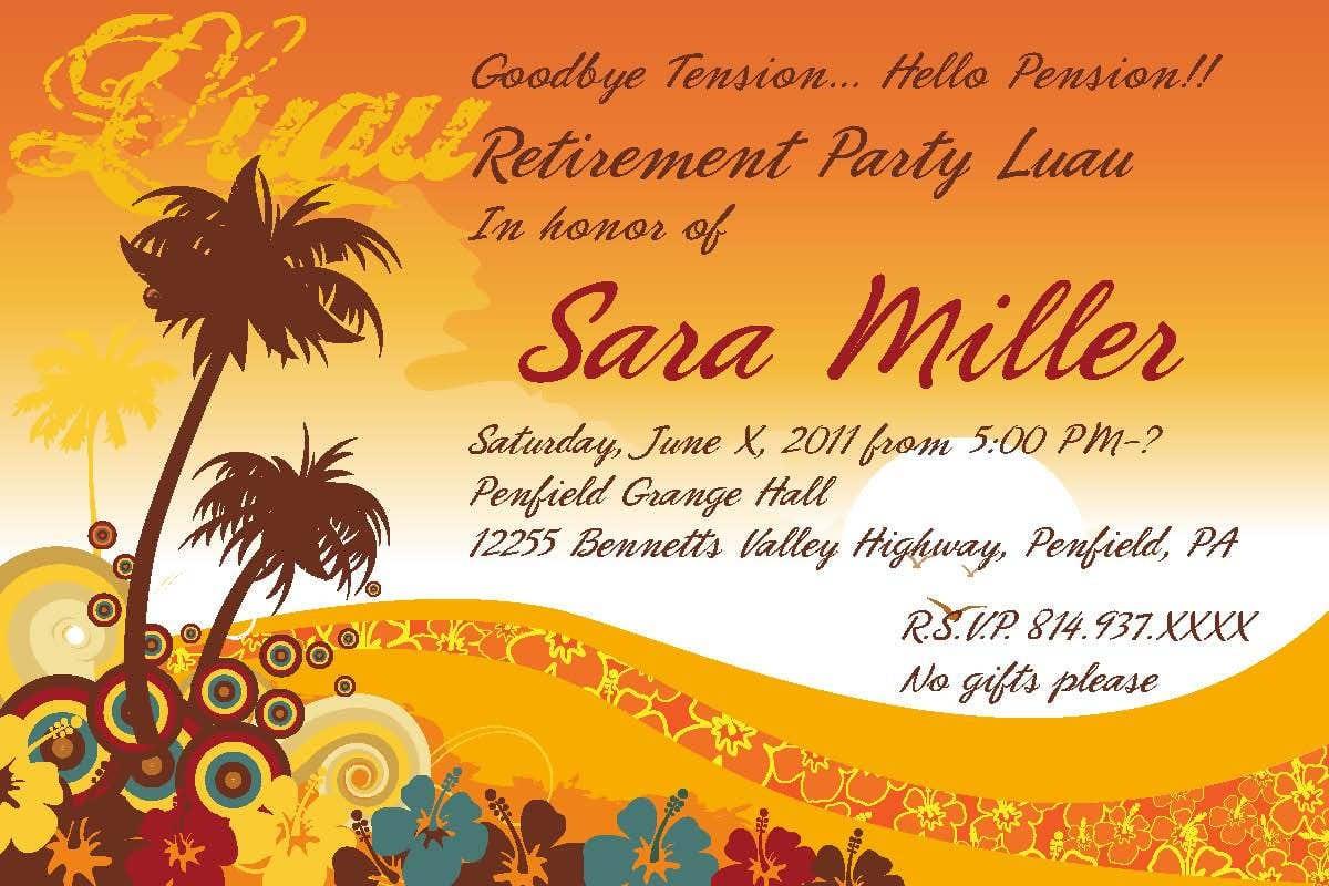 Retirement Party Invitations Templates Ideas