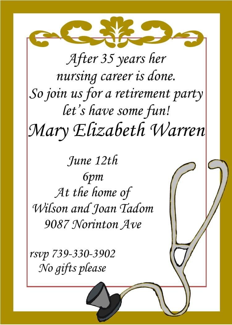 Retirement Reception Invitation Wording