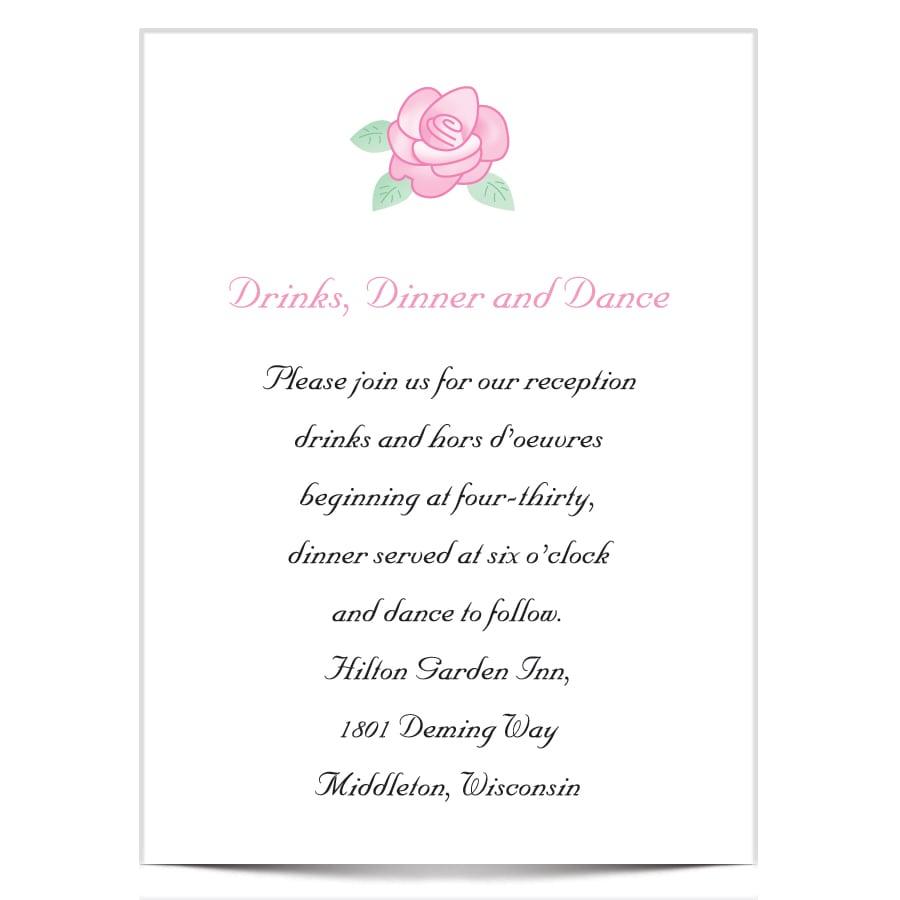 Rose Garden Reception Card