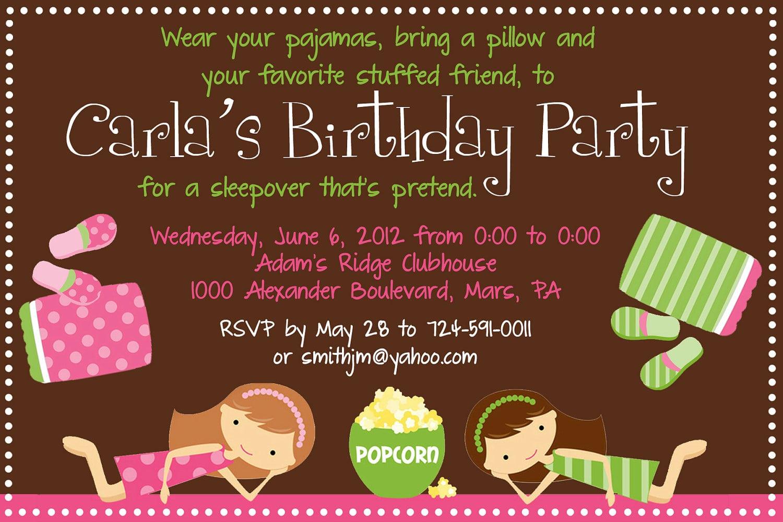 Slumber Party Invitation Ideas