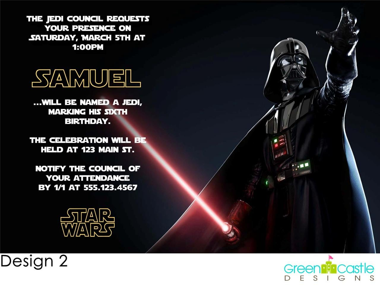 Star Wars Party Invitations Star Wars Party Invitations With Some