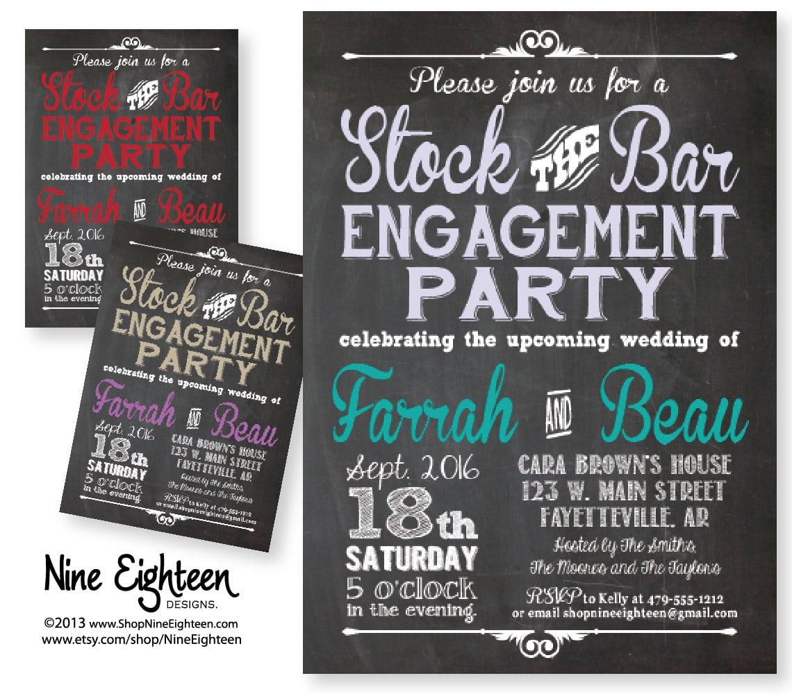 Stock The Bar Party Invitations Stock The Bar Party Invitations