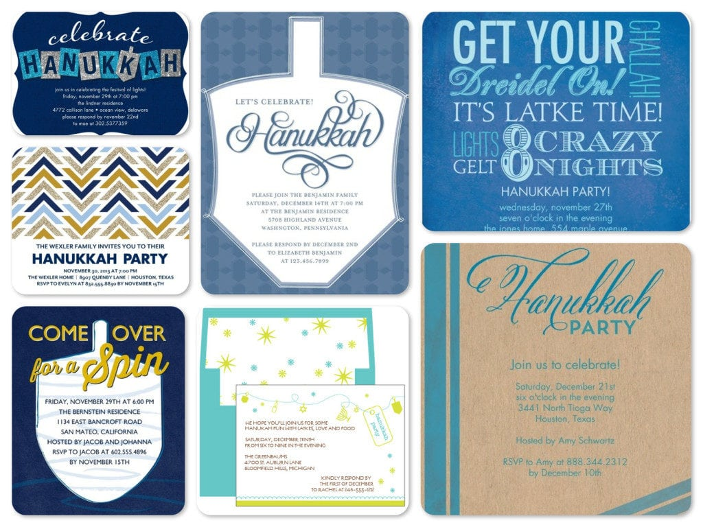 Stunning Collection Of Hanukkah Celebration And Party Invitation E