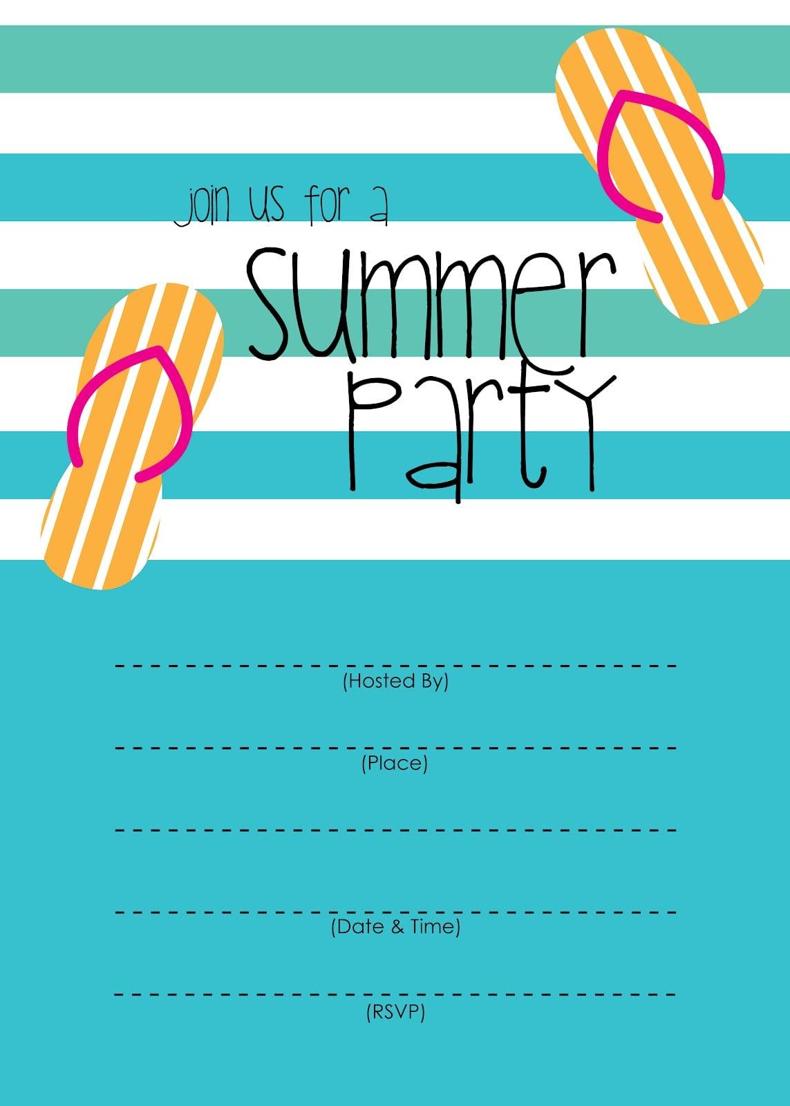 Summer Party Invitations Summer Party Invitations With Stylish