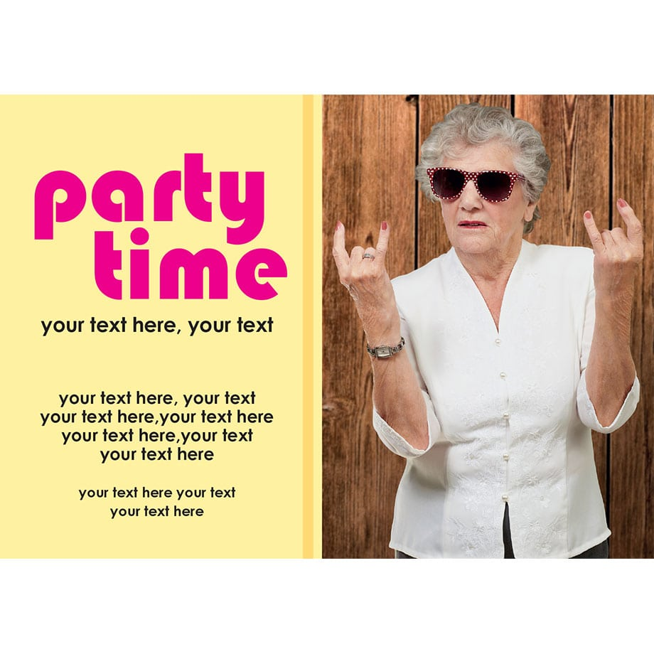 Super Cool Rock On Lady Party Invitation