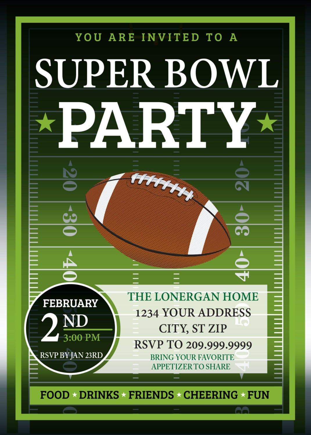 Superbowl Party Invite Images