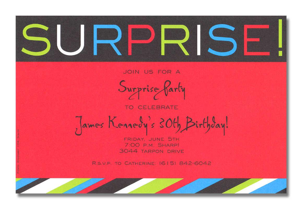 Surprise Birthday Party Invitations Wording Ideas – Bagvania Free