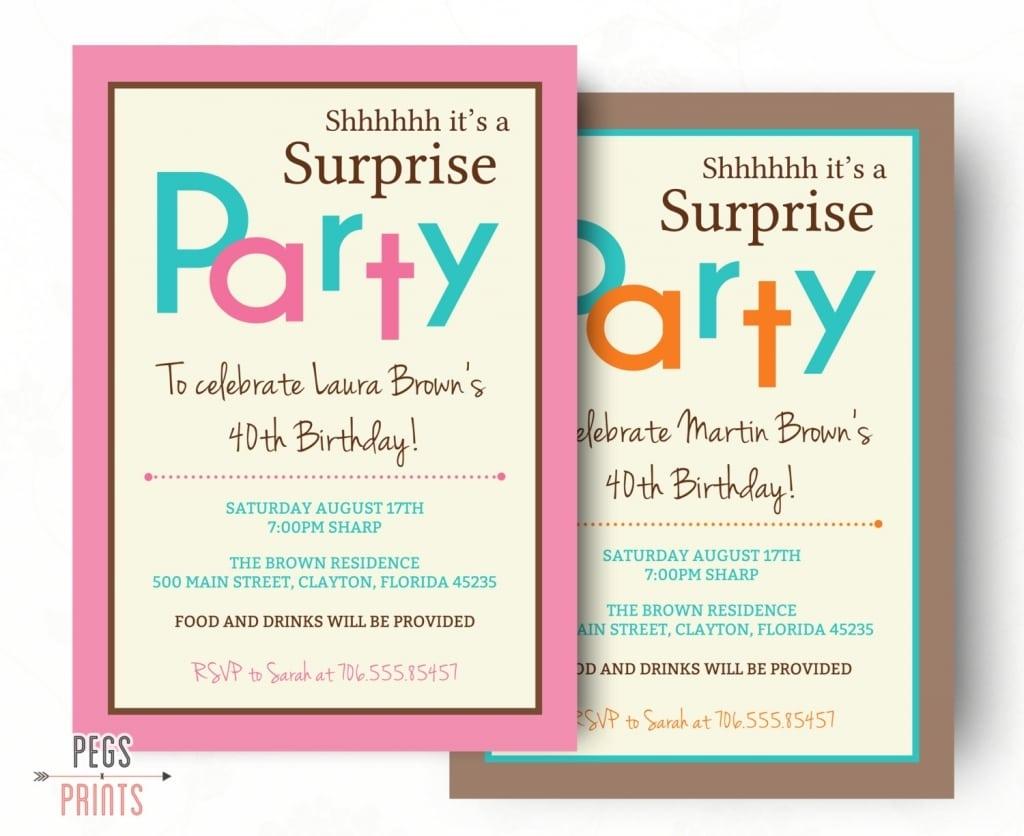 Surprise Birthday Quotes For Invites