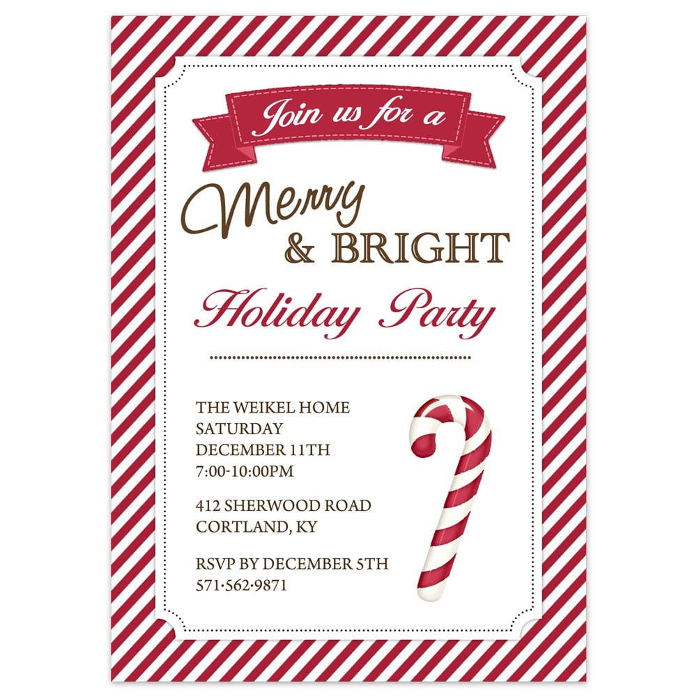 Surprising Holiday Party Invitation To Create Your Own Printable