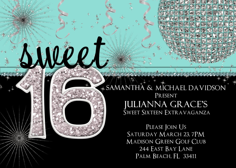 Sweet 16 Invitation Sweet Sixteen Birthday Invite