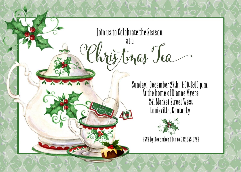 Holiday Tea Party Invitations - Mickey Mouse Invitations Templates