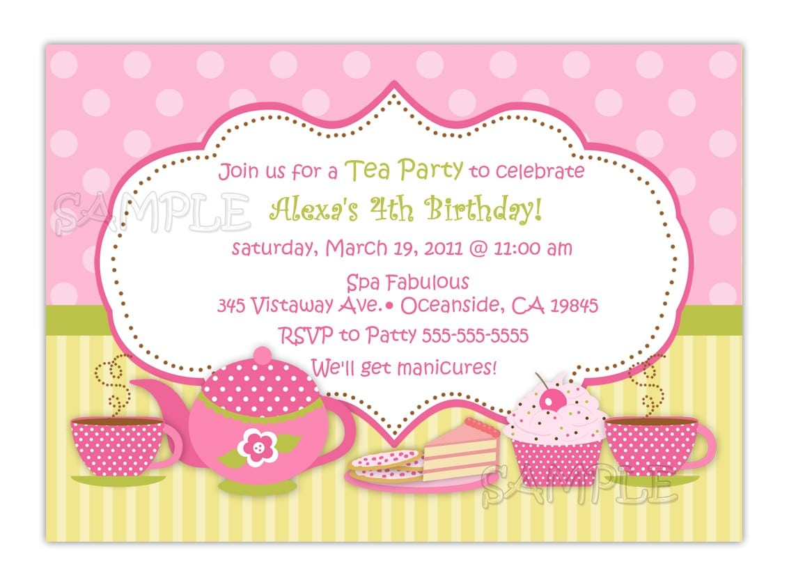 Tea Party Invitation Wording Tea Party Invitation Wording And The