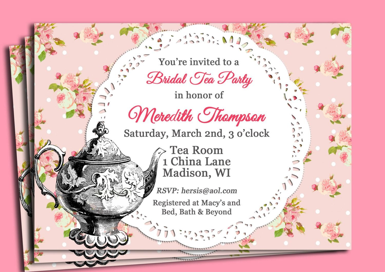 Tea Party Invitation Wording Tea Party Invitation Wording For
