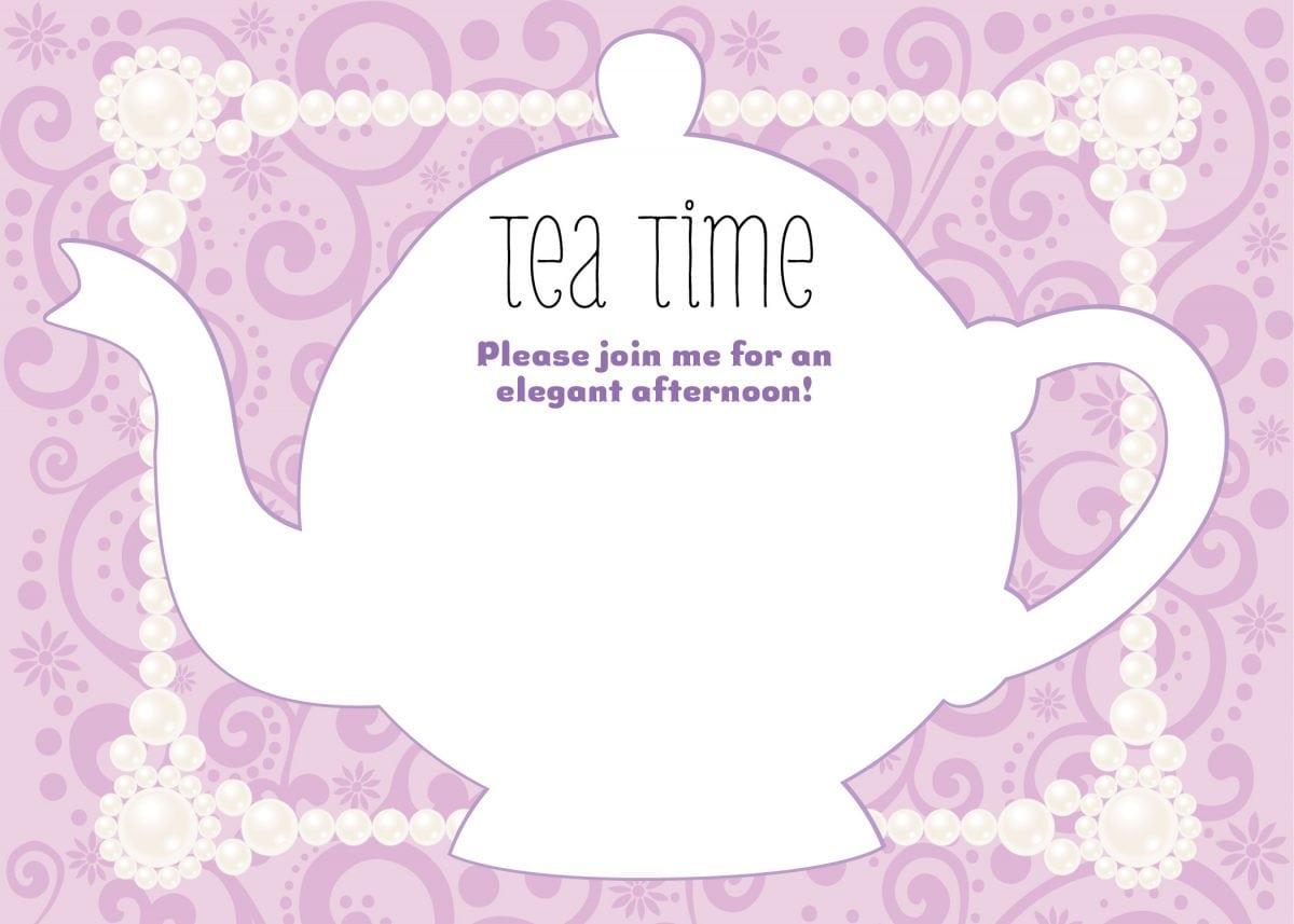 Teapot Party Invitations