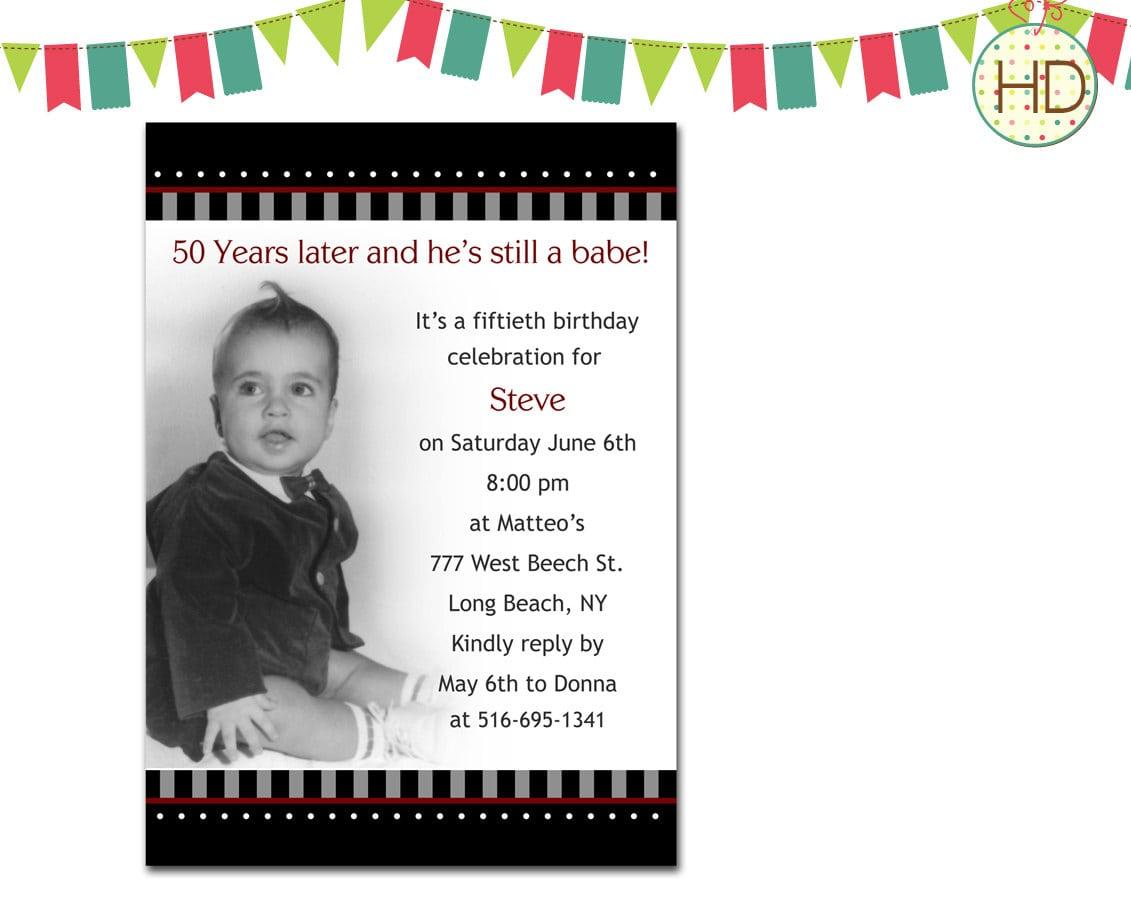 Template   80th Birthday Invitations Plus 50th Birthday Surprise
