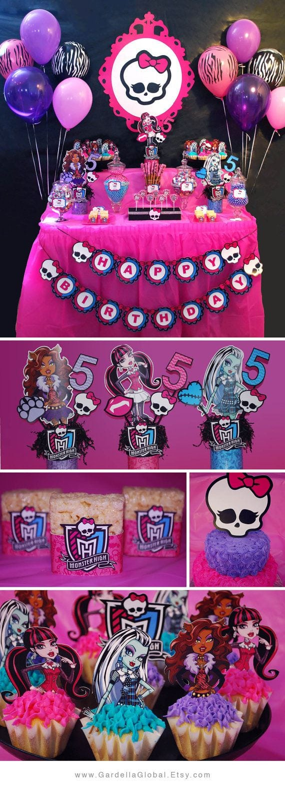 Template   Monster High Invitations Party City Plus Monster High
